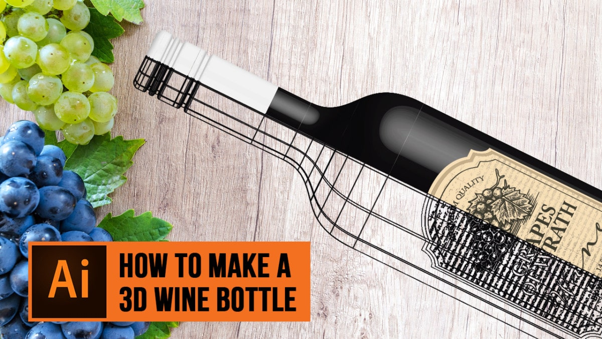 How to Make a 3D wine bottle in Adobe Illustrator